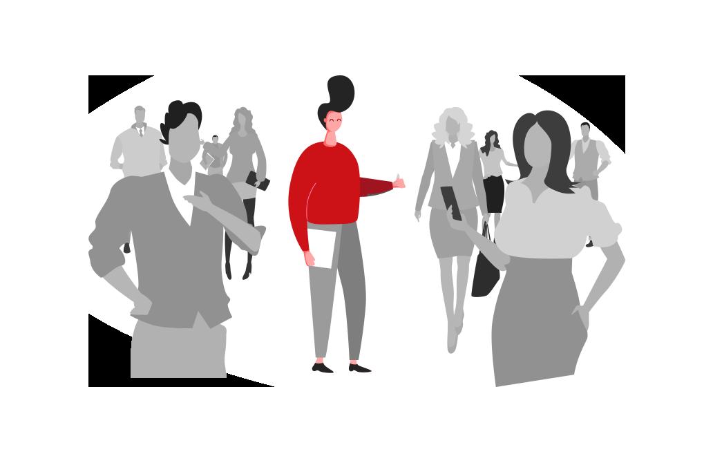 power people Personaldienstleistung Kunden Grafik Personal